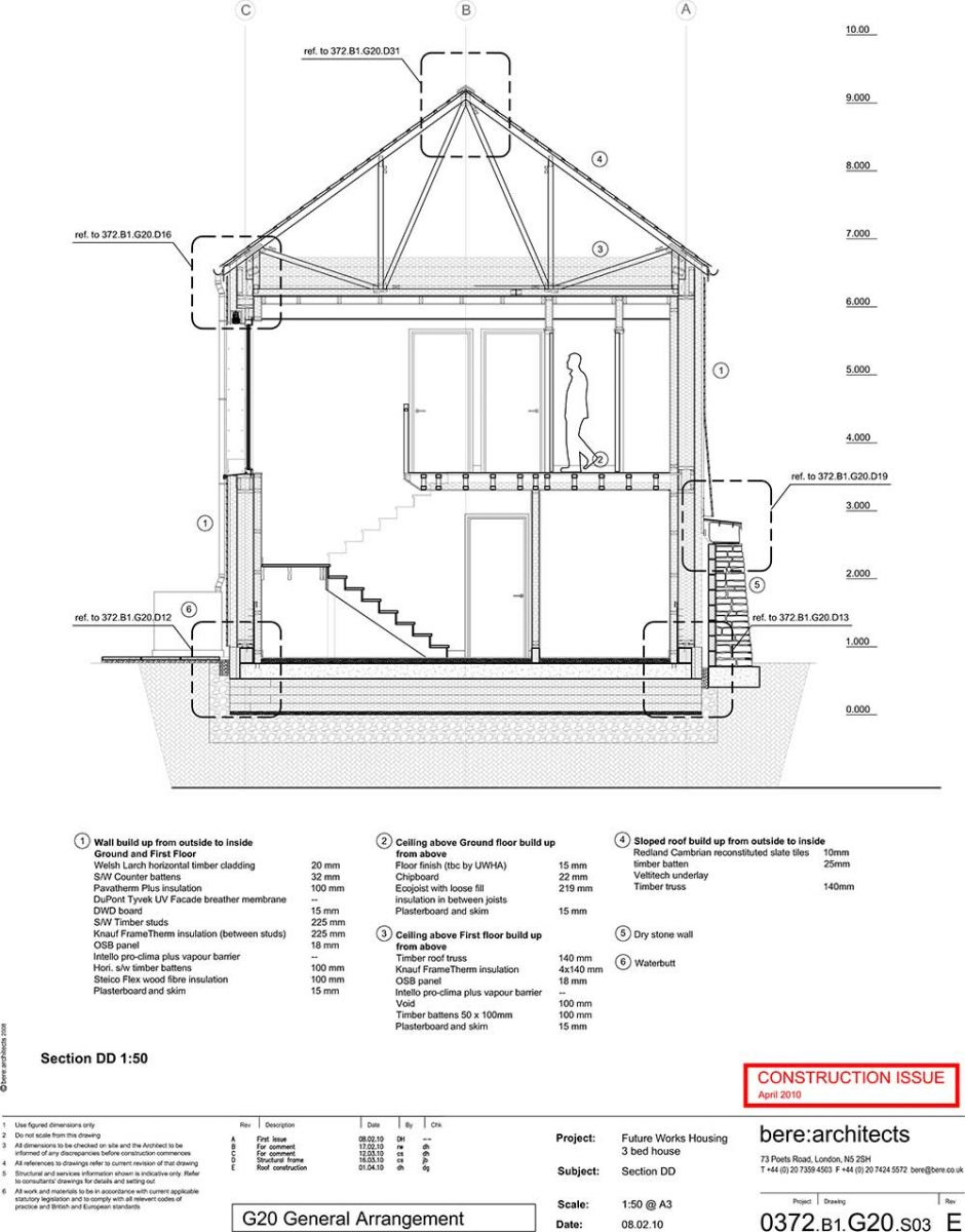 greenspec case study  the larch house  working drawings