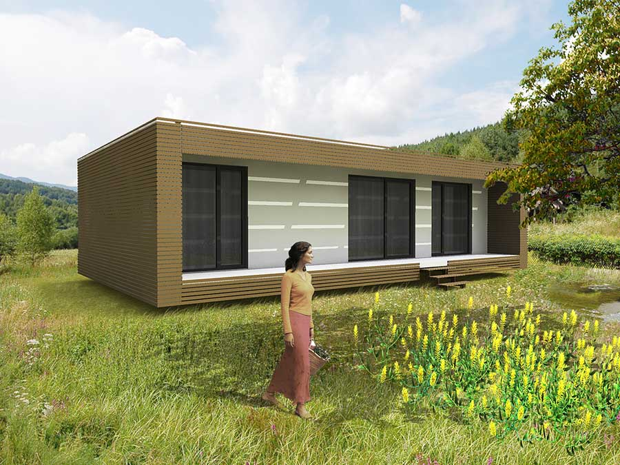 Nest Box, Prefabricated Passivhaus - Holescakova & Volekova