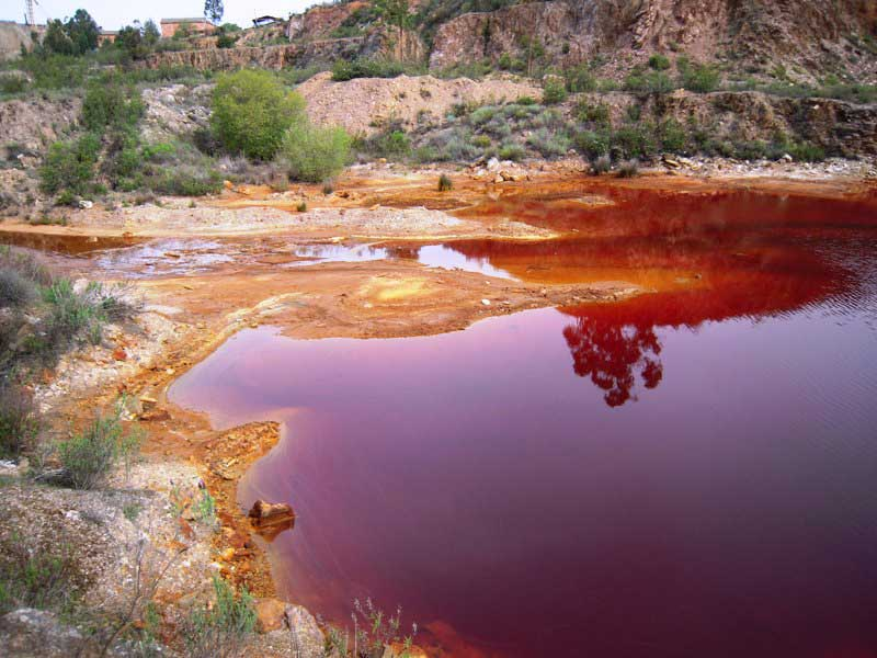 acid mine drainage pond