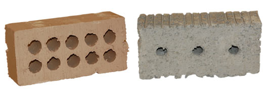 unfired clay bricks